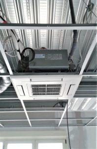 Installation climatisation plafond