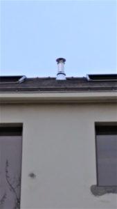 Sortie de cheminée toit