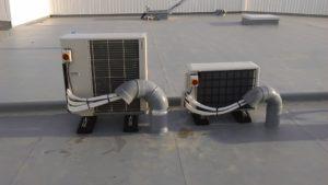 Sortie sur toit groupe extérieur climatisation