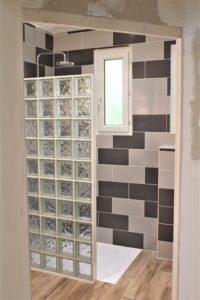 salle de bain carreaux de verre